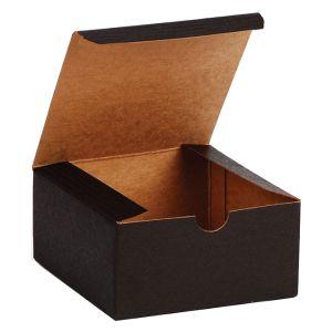 "Black Grove, Kraft Tuckit Gift Boxes, 4"" x 4"" x 2"""