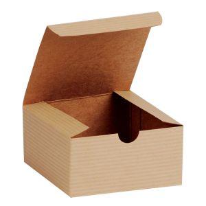 "Oatmeal, Kraft Tuckit Gift Boxes, 4"" x 4"" x 2"""