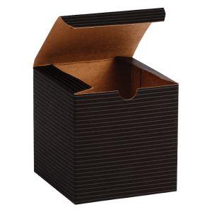 "Black Grove, Kraft Tuckit Gift Boxes, 4"" x 4"" x 4"""