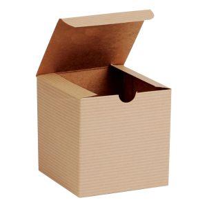 "Oatmeal, Kraft Tuckit Gift Boxes, 4"" x 4"" x 4"""