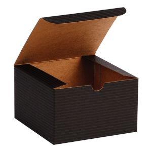 "Black Grove, Kraft Tuckit Gift Boxes, 5"" x 5"" x 3"""