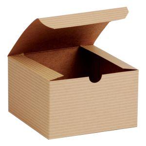 "Oatmeal, Kraft Tuckit Gift Boxes, 5"" x 5"" x 3"""