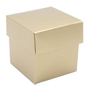 2 Piece Box, Matte Gold Linen Gift Box