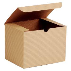 "Oatmeal, Kraft Tuckit Gift Boxes, 6"" x 4"" x 4"""