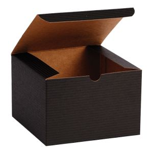 "Black Grove, Kraft Tuckit Gift Boxes, 6"" x 6"" x 4"""