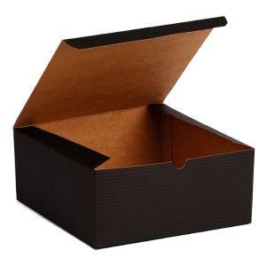 "Black Grove, Kraft Tuckit Gift Boxes, 8"" x 8"" x 3"""
