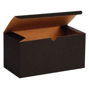 "Black Grove, Kraft Tuckit Gift Boxes, 9"" x 4"" x 4"""