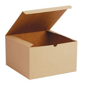 "Oatmeal, Kraft Tuckit Gift Boxes, 10"" x 10"" x 6"""