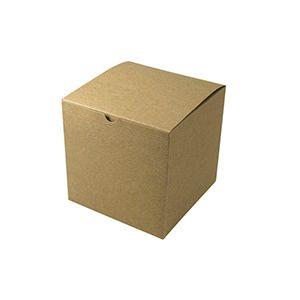 "Kraft Folding Gift Boxes, 7"" x 7"" x 7"""