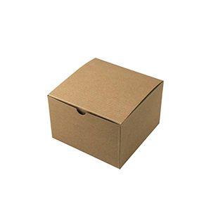 "Kraft Folding Gift Boxes, 6"" x 6"" x 4"""