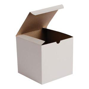 """White Folding Gift Boxes, 6"""" x 6"""" x 6"""""""