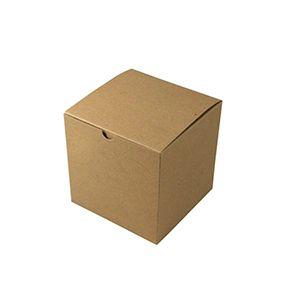 "Kraft Folding Gift Boxes, 6"" x 6"" x 6"""