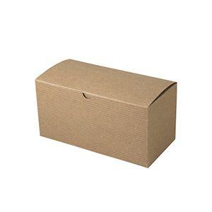 "Kraft Folding Gift Boxes, 9"" x 4.5"" x 4.5"""