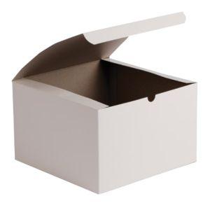 """White Folding Gift Boxes, 8"""" x 8"""" x 3.5"""""""