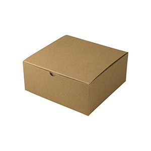"Kraft Folding Gift Boxes, 8"" x 8"" x 3.5"""