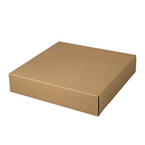 "Kraft Folding Gift Boxes, 12"" x 12"" x 2.5"""