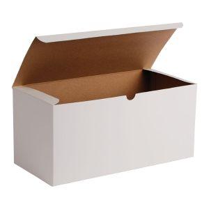 """White Folding Gift Boxes, 15"""" x 7"""" x 7"""""""