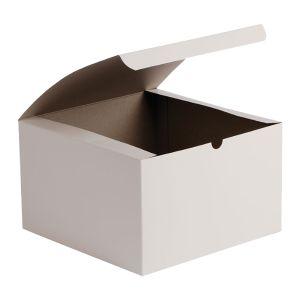 """White Folding Gift Boxes, 9"""" x 9"""" x 5.5"""""""