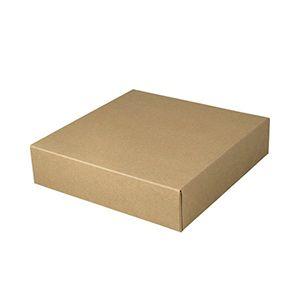 "Kraft Folding Gift Boxes, 6.5"" x 6.5"" x 1.5"""