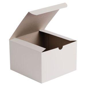 """White Folding Gift Boxes, 6.5"""" x 6.5"""" x 4"""""""