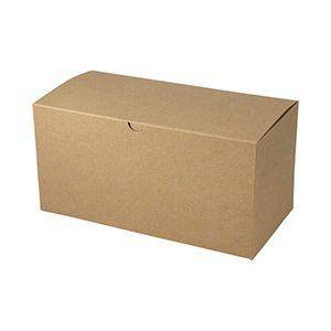 "Kraft Folding Gift Boxes, 14"" x 6"" x 6"""