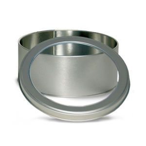 """Solid Tins with Clear Window, 6"""" Round"""