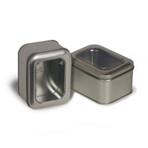 """Solid Tins with Clear Window, 4"""" x 3"""" x 2"""""""