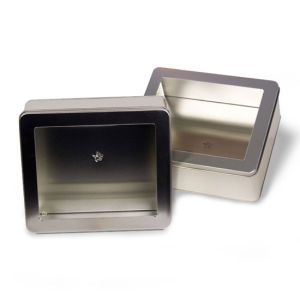 """Solid Tins with Clear Window, 8"""" x 7"""" x 3"""""""