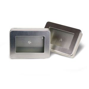 """Solid Tins with Clear Window, 7"""" x 5"""" x 2"""""""