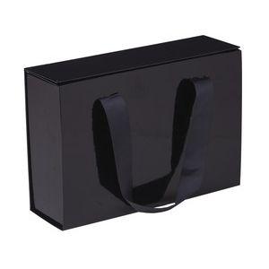 "Gift Box Magnet Closure Fashionista Black Gloss, 9"" x 2.75"" x 6.25"""