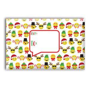 """Mailing Boxes, Large Emoji Christmas, 18"""" x 12"""" x 3"""""""