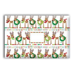 "Mailing Boxes, Medium Cute Reindeer, 12"" x 9"" x 6"""