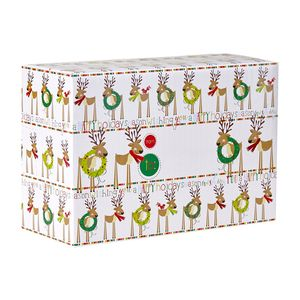 """Mailing Boxes, Small Cute Reindeer, 9.5"""" x 6.5"""" x 4"""""""