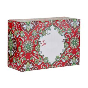 """Mailing Boxes, Small Tapestry Red, 9.5"""" x 6.5"""" x 4"""""""