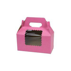 "Window Cup Cake Boxes, 8"" x 4"" x 4"""