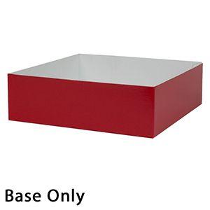 "10"" x 10"" x 3"", Red Base, Hi Wall 2 Piece Gift Box"