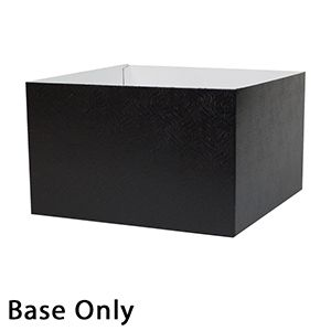 "10"" x 10"" x 6"", Black Base, Hi Wall 2 Piece Gift Box"