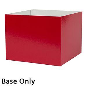 "10"" x 10"" x 6"", Red Base, Hi Wall 2 Piece Gift Box"