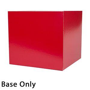 "10"" x 10"" x 9"", Red Base, Hi Wall 2 Piece Gift Box"