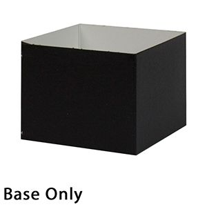 "4"" x 4"" x 3"", Black Base, Hi Wall 2 Piece Gift Box"