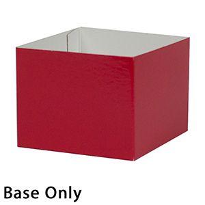 "4"" x 4"" x 3"", Red Base, Hi Wall 2 Piece Gift Box"