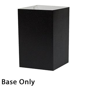"4"" x 4"" x 6"", Black Base, Hi Wall 2 Piece Gift Box"