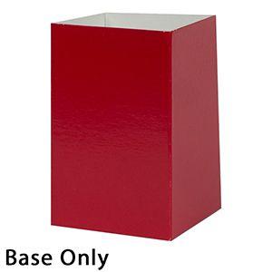 "4"" x 4"" x 6"", Red Base, Hi Wall 2 Piece Gift Box"