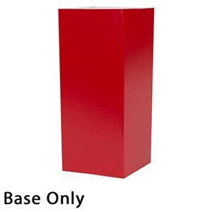 "4"" x 4"" x 9"", Red Base, Hi Wall 2 Piece Gift Box"