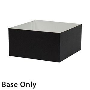 "6"" x 6"" x 3"", Black Base, Hi Wall 2 Piece Gift Box"