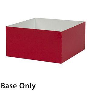 "6"" x 6"" x 3"", Red Base, Hi Wall 2 Piece Gift Box"