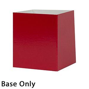 "6"" x 6"" x 6"", Red Base, Hi Wall 2 Piece Gift Box"