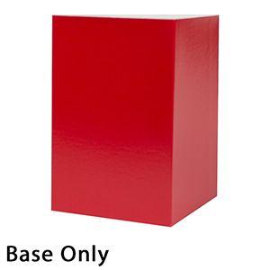 "6"" x 6"" x 9"", Red Base, Hi Wall 2 Piece Gift Box"