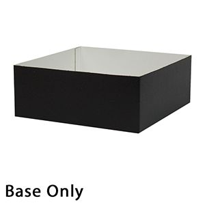 "8"" x 8"" x 3"", Black Base, Hi Wall 2 Piece Gift Box"