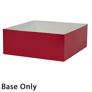 "8"" x 8"" x 3"", Red Base, Hi Wall 2 Piece Gift Box"